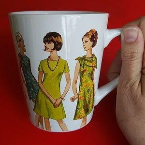 NWT Simplicity Anniversary 1960s Pattern Mug